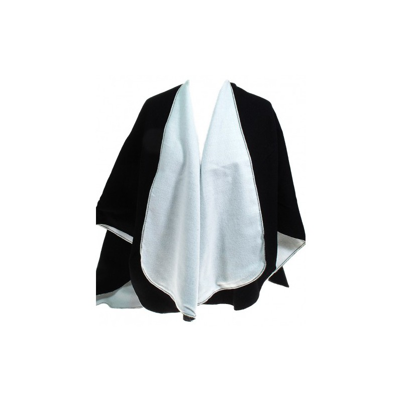 cape poncho reversible noir et blanc bas prix. Black Bedroom Furniture Sets. Home Design Ideas